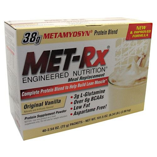 MET-RX MEAL REPLACEMENT,VANILLA, 40 PK