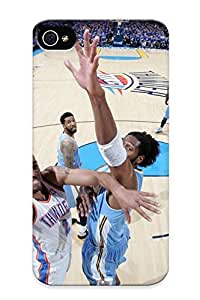 Christmas Gift - Tpu Case Cover For Iphone 4/4s Strong Protect Case - Oklahoma City Thunder Basketball Nbagj Design