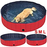 Yaheetech Red Foldable Pet Pool,Suitable for Dogs,Cats or Other Pets to Swim and Bath in Outdoor