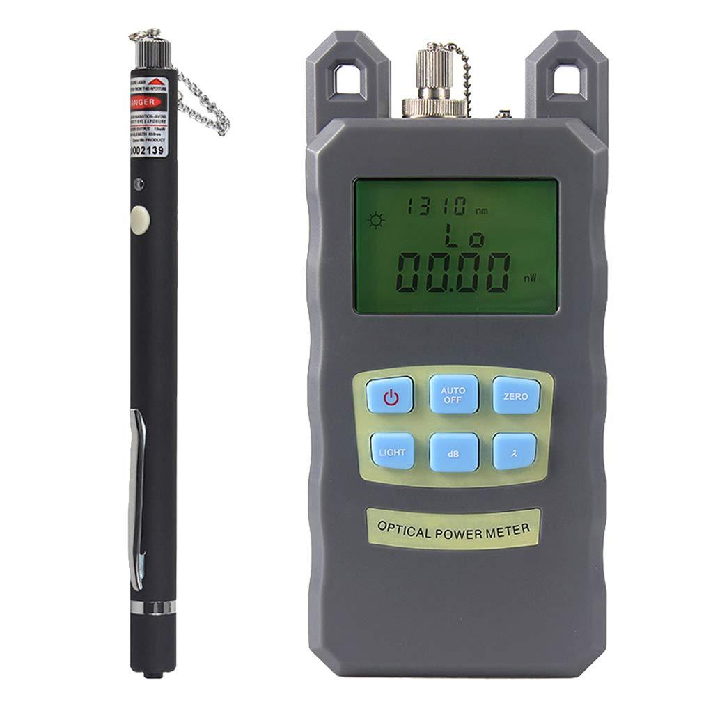 Prettyia 1Set Portable Optical Fiber Power Meter Tester Measure -70dBm~+10dBm + 10mW 10KM Visual Fault Locator Fiber Tester Detector Meter Pen