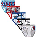 Marvel Little Boys' Spiderman 5 Pack Brief, Assorted, 6