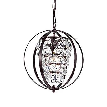 Globe Chandeliers Crystal Bronze Chandelier Lighting Vintage Light Fixture 1 Light 17046