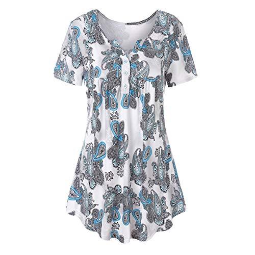 Femmes Courtes Blue Manches Shirt pour Manches Courtes Gadfjuotg T Longues Manches XWnvOzxA