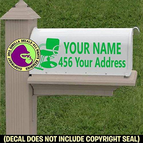 amazon com hair salon chair hairdresser custom mailbox set vinyl