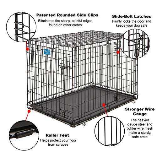 Life Stages LS-1642DD Double Door Folding Crate for Large Dogs(71 - 90lbs)