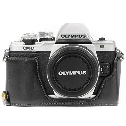 Case Olympus Black Leather (Megagear Olympus OM-D E-M10 Mark Ii Pu Leather Camera Case, Black (MG969))