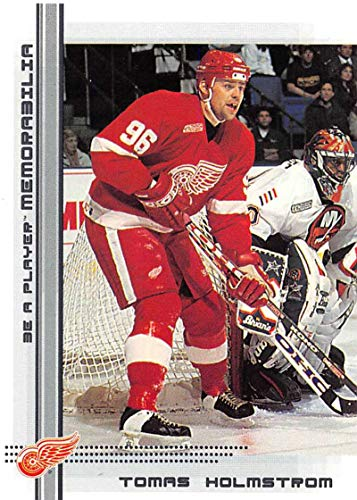 - 2000-01 Be A Player Memorablia Hockey #381 Tomas Holmstrom Detroit Red Wings Official Trading Card From ITG In The Game