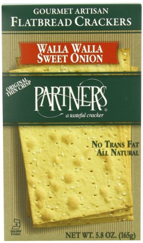 Partners Flatbread Style Crackers, Walla Walla Sweet Onion, 5.8-Ounce Boxes (Pack of - Smoked Salmon Crackers