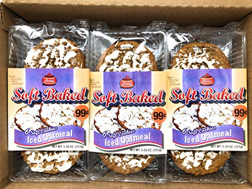 Carley's Soft Baked Cookies (Iced Oatmeal, 12 Count (8-pack))