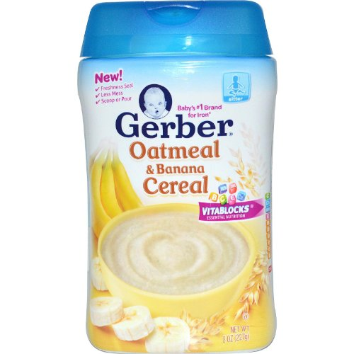 Gerber Oatmeal & Banana Cereal, 8 oz (227 g)
