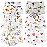 MOROM Little Boy's Underwear 6-Pack Car Panties Cotton Boxer Briefs Size 2T