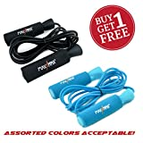 MaxxMMA Advanced Adjustable Jump Rope – BUY 1 GET 1 FREE! Color Choice Black or Blue For Sale