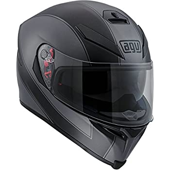AGV K-5 Unisex-Adult Full-Face-Helmet-Style Enlace Helmet (Black/Gray, Medium-Small)