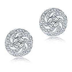 White Gold Diamonds Engagement Earrings
