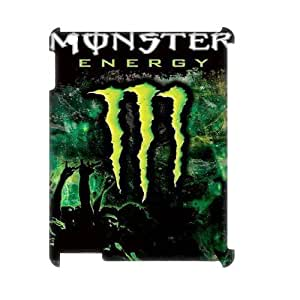 Classic Case Monster Energy pattern design For IPad 2,3,4(3D) Phone Case
