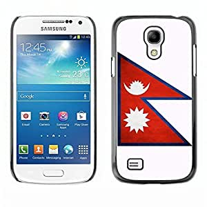 Shell-Star ( National Flag Series-Nepal ) Snap On Hard Protective Case For Samsung Galaxy S4 MINI / i9190 / i9192
