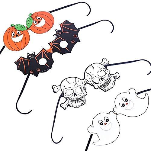 Dunnomart 4pcs Halloween Bats Eyewear Pumpkin Eyewear Skulls Eyewear Ghosts Tricky Dress up Party Glasses Halloween Decoration -