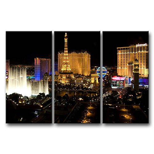 So Crazy Art 3 Pieces Wall Art Painting Las Vegas Nice Night Scene Pictures Prints On Canvas City The Picture Decor Oil For Home Modern Decoration Print For Furniture