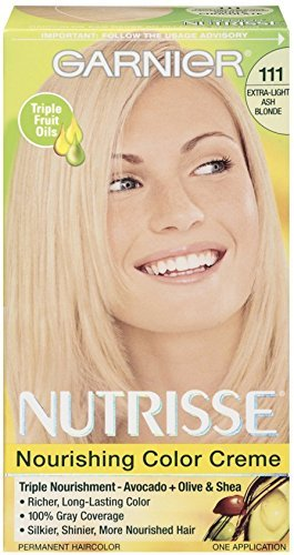 Garnier Nutrisse Haircolor, 111 Extra-Light Ash Blonde 1 Each (Pack of 2)