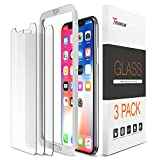 iPhone X Screen Protector, Trianium (3 Packs, Clear) iPhone X Tempered Glass Screen with Alignment Case Frame [3D Touch] 0.25mm Glass Protectors for Apple iPhoneX /10 Phone 2017 (3-Pack)