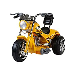 Red Hawk 12V Battery Powered Motorcycle Color: Yellow