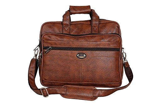 Handcuffs 12.5 litres rust colour leather/ office Bag For Men- 16 Inch (32)