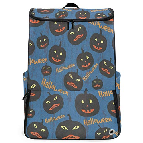 Halloween Pumpkin Large Capacity School College Bookbag Laptop Computer Backpack for Men Women