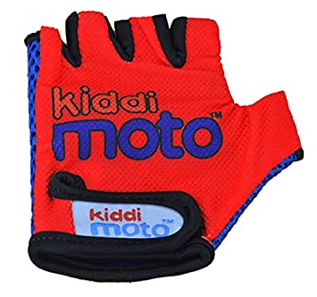 KIDDIMOTO Guantes de Ciclismo sin Dedos para Infantil (niñas y niños) - Bicicleta, MTB, BMX, Carretera, Montaña - Rojo