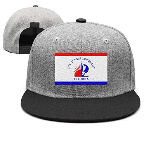 Fashion Trucker Cap Men Flag of Fort Lauderdale