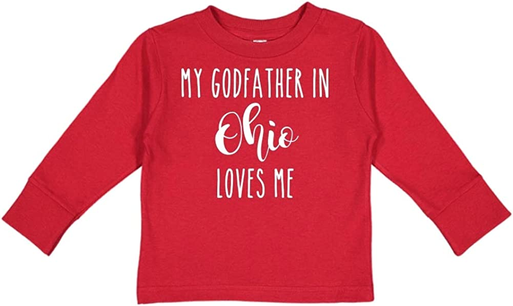 Toddler//Kids Long Sleeve T-Shirt My Godfather in Ohio Loves Me