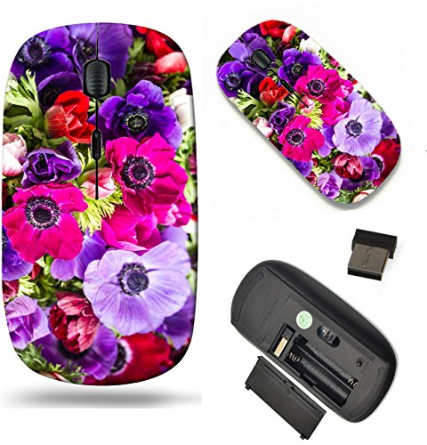 MSD Wireless Mouse Travel 2.4G Wireless Mice with USB Receiver, Noiseless and Silent Click with 1000 DPI for notebook, pc, laptop, computer, mac book design: 27897256 colorful buttercups bouquet - Buttercup Bouquet