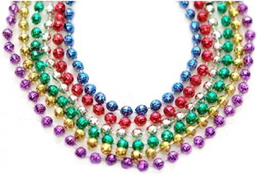 Dozen Pack Beaded Necklace (720 Count Beaded Mardi Gras Necklaces Value Pack - 60 Dozen Bulk Pack of 33