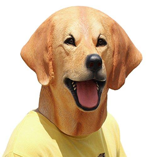 PartyCostume Latex Animal Dog Head Mask (Labrador)