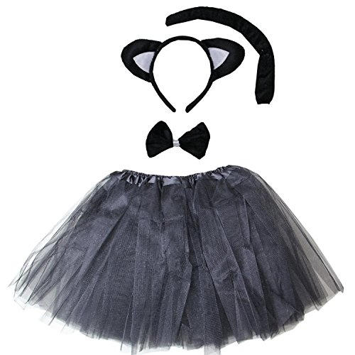 Kirei Sui Kids Costume Tutu Set Black Cat ()