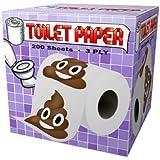 Pile Of Poop Emoji Design Toilet Paper Roll Tissue Prank Joke Gag Gift