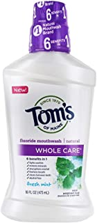 product image for Tom's of Maine, Whole Care Natural Mouthwash - Fresh Mint, 16 Ounce
