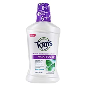 Tom's Of Maine, Mouthwash Fresh Mint Whole Care, 16 Ounce