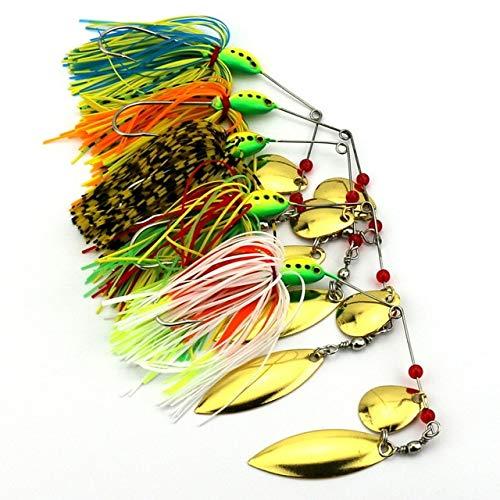 5pcs Fishing Spinner Lures Bass CrankBait Bait Tackle Crank Hook Vissen Harde Spinner Lokken Spinnerbait Pike Bass Lure Pesca (Best Spinnerbait For Pike)