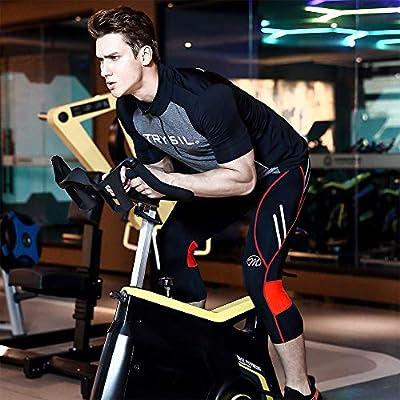 MEETWEE Hombres 3/4 Pantalones de Ciclismo, Transpirable Bicicleta ...