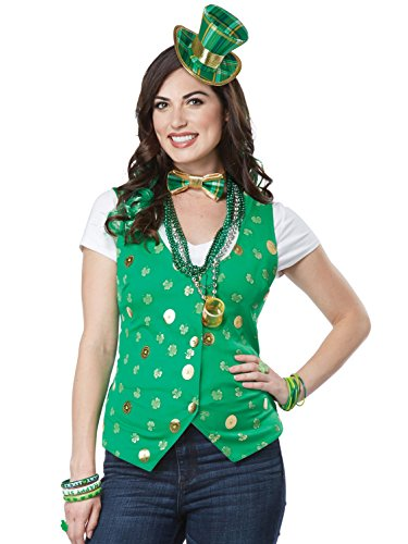 California Costumes Women's Lucky Lady Kit Adult Woman Costume, Green, Small/Medium -