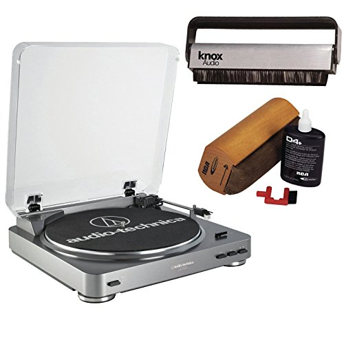 Audio-Technica AT-LP60-USB Turntable w/ Knox Carbon Fiber Vinyl Brush & Cleaning Kit (Samsung Direct Connect Cable compare prices)