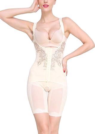 6ca2d3d2119 AOQUSSQOA Women Seamless Firm Control Shapewear Faja Open Bust Bodysuit  Body Shaper  Amazon.co.uk  Clothing