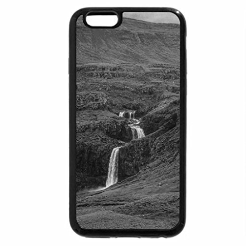 iPhone 6S Plus Case, iPhone 6 Plus Case (Black & White) - beautiful waterfall cascading down a gorge