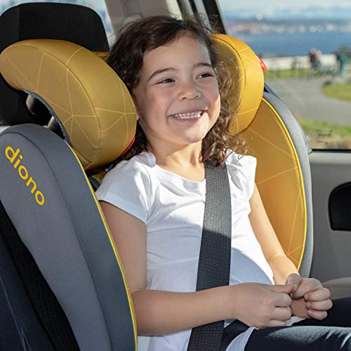 51J2qabtH5L - Diono Monterey XT Latch, 2-in-1 Belt Positioning Booster Seat With Expandable Height/Width, Blue