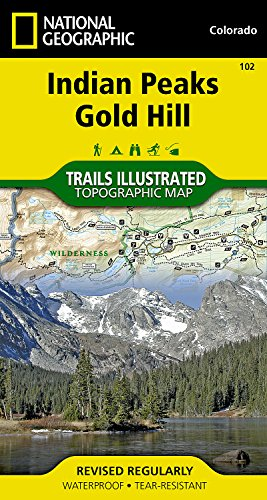 Indian Peaks, Gold Hill (National Geographic Trails Illustrated Map) -