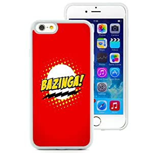 NEW Unique Custom Designed iPhone 6 4.7 Inch TPU Phone Case With Bazinga Logo Sheldon Cooper_White Phone Case