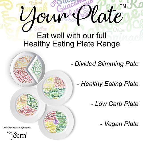 New: Divided Slimming Plate for Easy Portion Control | Beautifully Designed Portion Control & Food Ideas for Sustainable Weight Loss | Easily Follow a Balanced Diet 6