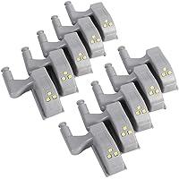 10 stks Wit Innerlijke Sensor Scharnier Led Licht Universele Kabinet Kast Kast Kledingkast Warm/Cool LED Scharnier Licht…