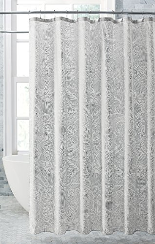 VCNY Home Harper Shower Curtain, 72x72, Silver - Harper Shower Curtain