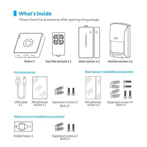 Broadlink Enlace amplio Alarma &Seguridad equipo S2-HUB Seguridad Traje Alarma de seguridad Detector Sensor de movimiento Control remoto por Casa Automatio: ...